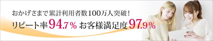おかげさまで累計利用者数100万人突破!